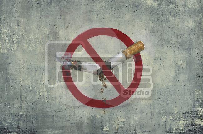 Illustrative image of no smoking sign