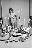 VAN HALEN, EDDIE VAN HALEN, STUDIO, GUITARS, 1980, NEIL ZLOZOWER