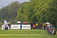 Julian Suri (USA) on the 5th tee during Round 3 of the D+D Real Czech Masters at the Albatross Golf Resort, Prague, Czech Rep. 02/09/2017<br /> Picture: Golffile | Thos Caffrey<br /> <br /> <br /> All photo usage must carry mandatory copyright credit     (&copy; Golffile | Thos Caffrey)