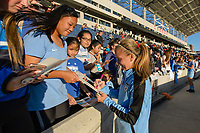 Bridgeview, IL - Sunday June 25, 2017: Fans, Alyssa Mautz during a regular season National Women's Soccer League (NWSL) match between the Chicago Red Stars and Sky Blue FC at Toyota Park. The Red Stars won 2-1.