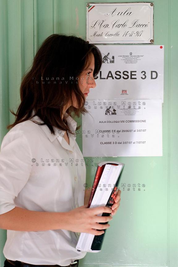 Esami di marurit&agrave; al liceo classico Berchet. Milano, 4 luglio, 2007<br /> <br /> Examination for Advanced-level General Certificate of Education. Milan, July 4, 2007