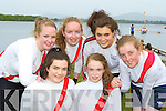 The Workmans u18 girls front l-r: Meaghan Cronin, Roisin Doherty Back row:  Kathleen Moran, Mary O'Donoghue, Rachel Cronin and Lauren McCarthy that competed at the Killarney Regatta on Monday evening front
