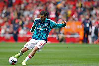 Dani Ceballos of Arsenal during the Premier League match between Arsenal and Aston Villa at the Emirates Stadium, London, England on 22 September 2019. Photo by Carlton Myrie / PRiME Media Images.