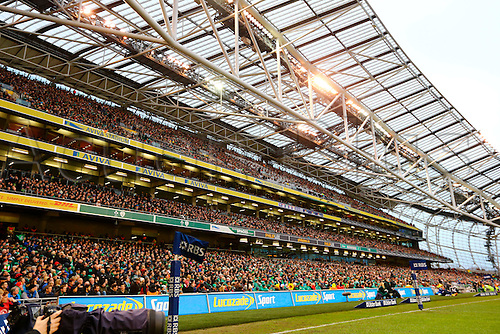 07.02.2016.  Aviva Stadium, Dublin, Ireland. RBS Six Nations. Ireland versus Wales.<br /> Almost a full house in the stadium for the big game.