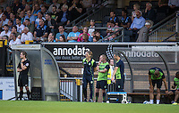 Gareth Ainsworth Manager of Wycombe Wanderers during the Pre-Season Friendly match between Wycombe Wanderers and Queens Park Rangers at Adams Park, High Wycombe, England on the 22nd July 2016. Photo by Liam McAvoy / PRiME Media Images.