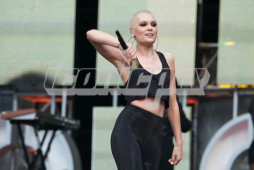 Jessie J - performing live at the Sound of Change Live concert at Twickenham Stadium Surrey UK - 01 Jun 2013.  Photo credit: John Rahim/Music Pics Ltd/IconicPix