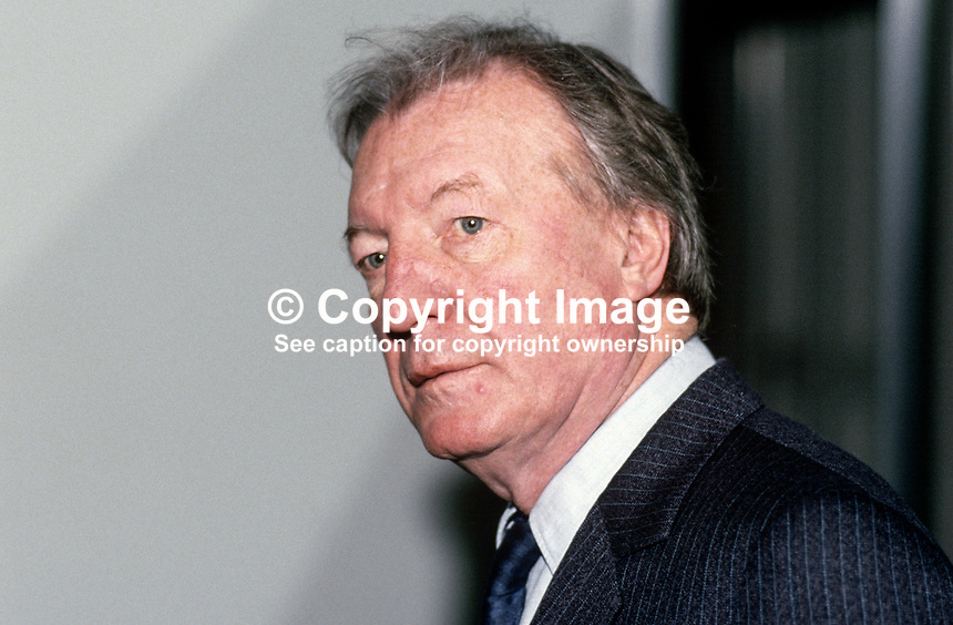 Charles J Haughey, Taoiseach, Prime Minister, Rep of Ireland, TD, Fianna Fail, Ard Fheis, 19880204CJH4.<br />