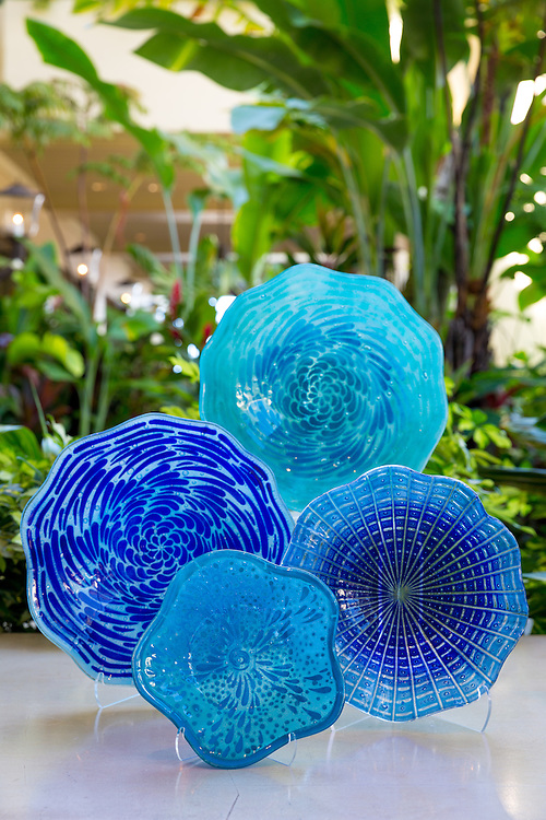 Glass art for sale at the Four Seasons Resort Maui in Wailea, Maui, Hawaii, USA
