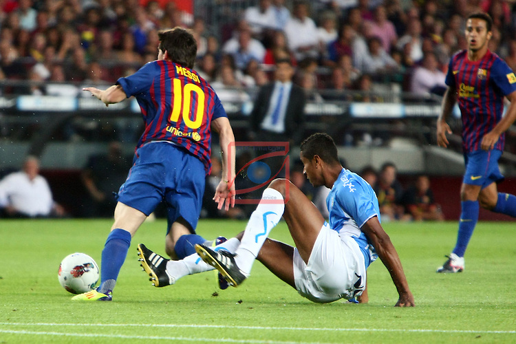 Messi vs Lolo. FC Barcelona vs Osasuna: 8-0 (League BBVA 2011/12 - Season 4).