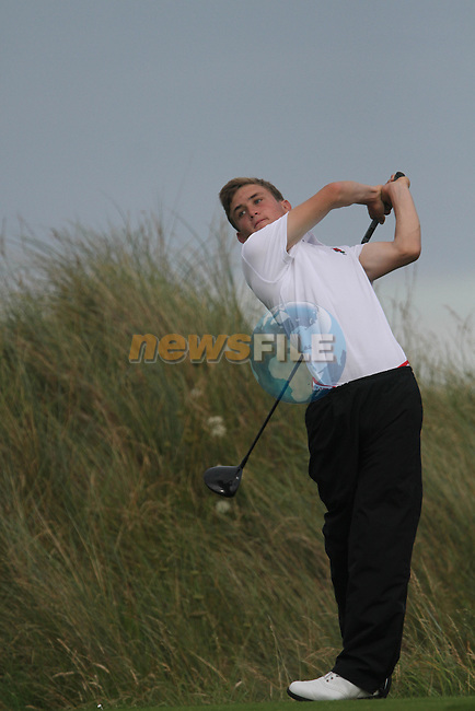 Bobby Keeble (ENG) on the Final Day of the 2012 Boys Home Internationals at Co.Louth Golf Club in Baltray, Co.Louth...(Photo credit should read Jenny Matthews/NEWSFILE)...