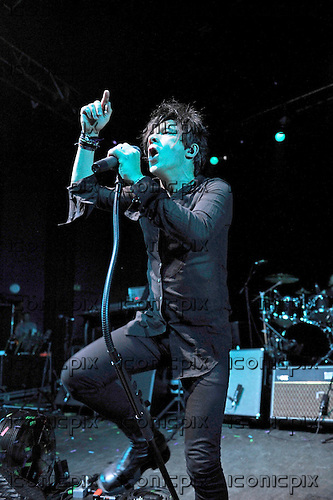 INDOCHINE - vocalist Nicola Sirkis - performing live at the Empire Shepherds Bush in London UK - 14 Jul 2014.  Photo credit: Zaine Lewis/IconicPix