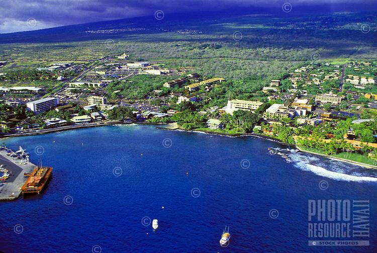 Aerial of Kailua Kona, Big Island of Hawaii