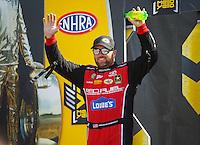 May 22, 2016; Topeka, KS, USA; NHRA top fuel driver Shawn Langdon during the Kansas Nationals at Heartland Park Topeka. Mandatory Credit: Mark J. Rebilas-USA TODAY Sports