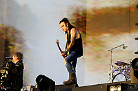 LONDON, ENGLAND - JULY 7: Simon Gallup of 'The Cure' performing at British Summer Time, Hyde Park on July 7, 2018 in London, England.<br /> CAP/MAR<br /> &copy;MAR/Capital Pictures