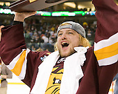 Wade Bergman (Duluth - 28) - The University of Minnesota-Duluth Bulldogs celebrated their 2011 D1 National Championship win on Saturday, April 9, 2011, at the Xcel Energy Center in St. Paul, Minnesota.