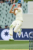 3rd December 2017, Adelaide Oval, Adelaide, Australia; The Ashes Series, Second Test, Day 2, Australia versus England; Craig Overton of England runs in to bowl