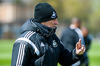 Wednesday  27 April 2016<br /> Pictured: Francesco Guidolin, Manager of Swansea City  during training.<br /> Re: Swansea City Training Session at the Fairwood Ground, Swansea, Wales, UK