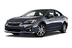 Stock pictures of low aggressive front three quarter view of 2018 Subaru Impreza 2.0i-Limited-CVT-PZEV 4 Door Sedan Low Aggressive