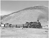 D&amp;RGW #473 at Silverton with two high-side gondolas, caboose #0540 and a baggage car.<br /> D&amp;RGW  Silverton, CO