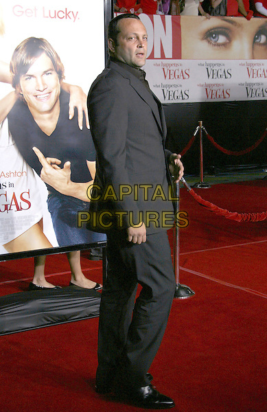"VINCE VAUGHN.""What Happens In Vegas"" Los Angeles Premiere held at the Mann Village Theater, Westwood, California, USA, .01 May 2008..full length grey gray suit back over shoulder.CAP/ADM/RE.©Russ Elliot/Admedia/Capital PIctures"