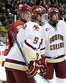 David Valek (Harvard - 22) and Philip Samuelsson (BC - 5) won the gold together as members of Team USA at the Worlds U-18s in April 2009. - The Boston College Eagles defeated the Harvard University Crimson 6-0 on Monday, February 1, 2010, in the first round of the 2010 Beanpot at the TD Garden in Boston, Massachusetts.