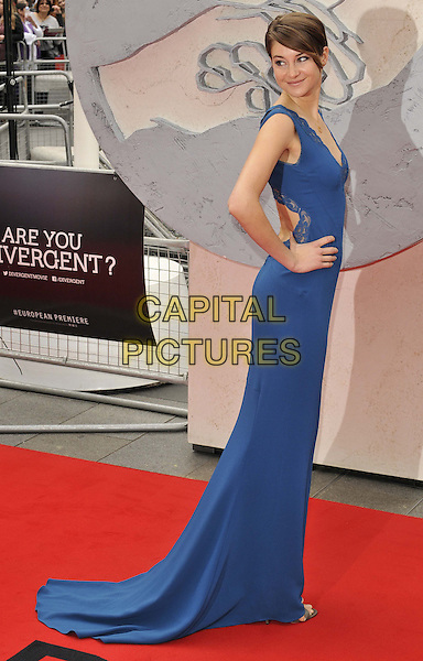 LONDON, ENGLAND - MARCH 30: Shailene Woodley attends the &quot;Divergent&quot; UK film premiere, Odeon Leicester Square cinema, Leicester Square, on Sunday March 30, 2014 in London, England, UK.<br /> CAP/CAN<br /> &copy;Can Nguyen/Capital Pictures