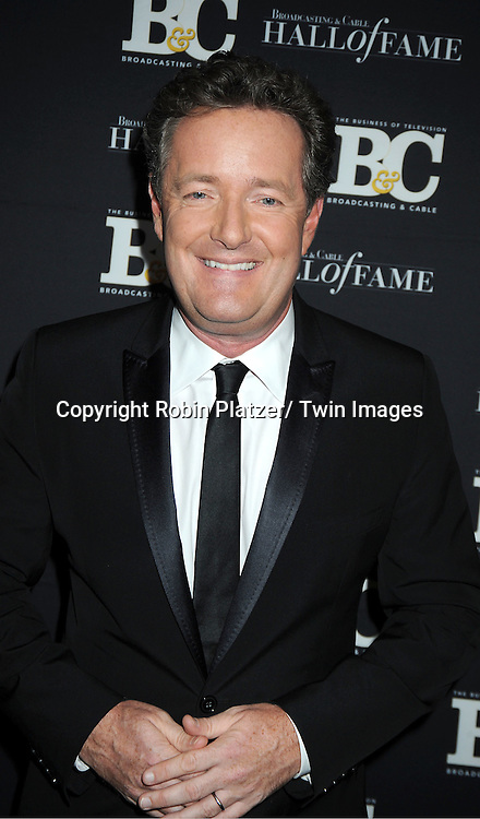 Piers Morgan attends the 2011 Broadcasting & Cable Hall of Fame Awards on October 26, 2011 at the Waldorf Astoria Hotel in New York City.