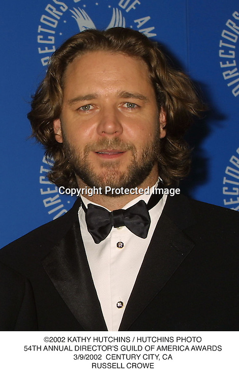©2002 KATHY HUTCHINS / HUTCHINS PHOTO.54TH ANNUAL DIRECTOR'S GUILD OF AMERICA AWARDS.3/9/2002  CENTURY CITY, CA.RUSSELL CROWE