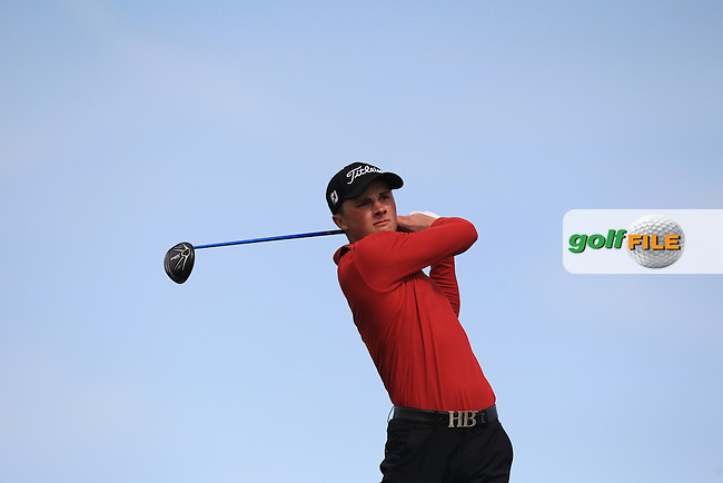 Cameron Long (ENG) on the 14th tee during Round 1 of the Flogas Irish Amateur Open Championship at Royal Dublin on Thursday 5th May 2016.<br /> Picture:  Thos Caffrey / www.golffile.ie