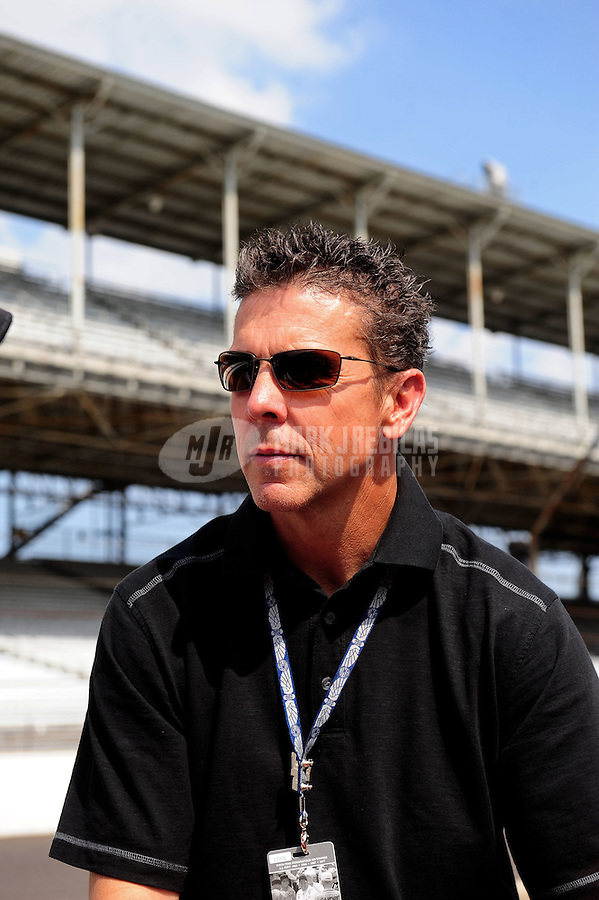 May 28, 2010; Indianapolis, IN, USA; IndyCar Series former driver Scott Pruett during carb day prior to the Indianapolis 500 at the Indianapolis Motor Speedway. Mandatory Credit: Mark J. Rebilas-
