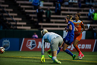 Seattle, Washington -  Saturday April 22, 2017: Beverly Yanez during a regular season National Women's Soccer League (NWSL) match between the Seattle Reign FC and the Houston Dash at Memorial Stadium.