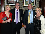 Emett and Maria Duffy, Enda Kerley and Breda Flood pictured at the Ardee Traders awards night in Darver Castle. Photo:Colin Bell/pressphotos.ie