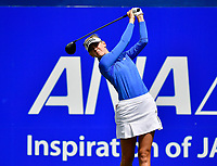 Jessica Korda of the United States plays her shot from the first tee during the third round of the ANA Inspiration at the Mission Hills Country Club in Palm Desert, California, USA. 3/31/18.<br /> <br /> Picture: Golffile | Bruce Sherwood<br /> <br /> <br /> All photo usage must carry mandatory copyright credit (&copy; Golffile | Bruce Sherwood)during the second round of the ANA Inspiration at the Mission Hills Country Club in Palm Desert, California, USA. 3/31/18.<br /> <br /> Picture: Golffile | Bruce Sherwood<br /> <br /> <br /> All photo usage must carry mandatory copyright credit (&copy; Golffile | Bruce Sherwood)