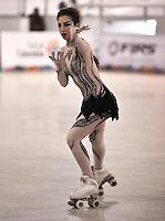CALI – COLOMBIA – 21 – 09 – 2015: Sara Zaggia, deportista de Italia, durante la prueba de Solo Danza Juvenil Damas en el LX Campeonato Mundial de Patinaje Artistico, en el Velodromo Alcides Nieto Patiño de la ciudad de Cali. / Sara Zaggia, sportwoman from Italy, during the Compulsory Solo Dance Junior Ladies test, in the LX World Championships Figure Skating, at the Alcides Nieto Patiño Velodrome in Cali City. Photo: VizzorImage / Luis Ramirez / Staff.