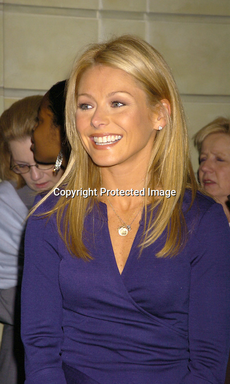 Kelly Ripa ..at the PAL 16th Annual Women of the Year Luncheon honoring Kelly Ripa, Paul Zahn and Cindi Stivers on October 26, 2004 at the Pierre Hotel. ..Photo by Robin Platzer, Twin Images