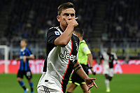 Paulo Dybala of Juventus celebrates after scoring the goal of 0-1 for his side <br /> Milano 6-10-2019 Stadio Giuseppe Meazza <br /> Football Serie A 2019/2020 <br /> FC Internazionale - Juventus FC <br /> Photo Andrea Staccioli / Insidefoto