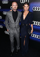 WEST HOLLYWOOD, CA, USA - AUGUST 21: Aaron Paul, Lauren Parsekian at the Audi Emmy Week Celebration 2014 held at Cecconi's Restaurant on August 21, 2014 in West Hollywood, California, United States. (Photo by Xavier Collin/Celebrity Monitor)