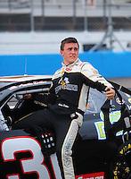 Apr 16, 2009; Avondale, AZ, USA; NASCAR Camping World Series West driver Austin Dillon prior to the Jimmie Johnson Foundation 150 at Phoenix International Raceway. Mandatory Credit: Mark J. Rebilas-