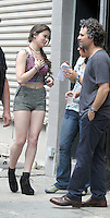 July 06, 2012 Hailee Steinfeld, Mark Ruffalo shooting on location for new VH-1 movie Can a Song Save Your Life? in New York City.Credit:&copy; RW/MediaPunch Inc. *NORTEPHOTO.COM*<br />