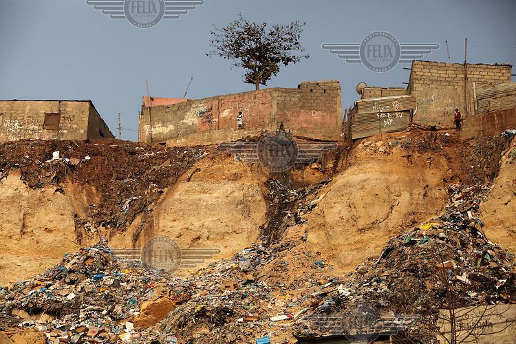 The slum area of Montana de Samba in Luanda.