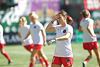 Portland, OR - Saturday August 05, 2017: Hayley Raso during warmups before a regular season National Women's Soccer League (NWSL) match between the Portland Thorns FC and the Houston Dash at Providence Park.
