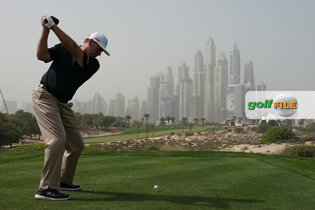 Ernie Els (RSA) in action during the first round of the Omega Dubai Desert Classic, Emirates Golf Club, Dubai, UAE. 24/01/2019<br /> Picture: Golffile | Phil Inglis<br /> <br /> <br /> All photo usage must carry mandatory copyright credit (© Golffile | Phil Inglis)