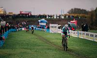 Michael Vanthourenhout (BEL/Marlux-Bingoal) riding off the front<br /> <br /> men's race<br /> Soudal Jaarmarktcross Niel 2018 (BEL)