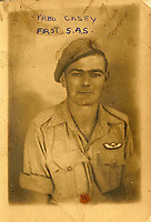 BNPS.co.uk (01202 558833)<br /> Pic: Bosleys/BNPS<br /> <br /> Fred Casey  - 1st S.A.S.<br /> <br /> Sold for £25,000 - An extraordinary wartime archive that lift's the veil on the earliest days of the SAS during WW2.<br /> <br /> The late Fred Casey was among the original dozen members of the 1st Special Air Service that was formed in North Africa to wreak havoc behind enemy lines.<br /> <br /> The commando's military possessions included a remarkable album containing previously unseen images of the founding members of the elite force.<br /> <br /> Legendary Captain David Stirling, who formed the 'Who Dares Wins' regiment, and hand-picked the men under his command, is pictured along with his controversial deputy Paddy Mayne , who took over the top secret regiment after Stirling's capture.<br /> <br /> The album sold at Bosley's Auctioneers of Marlow, Bucks, last week for over five times its pre-sale estimate..