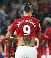 Tattoos on the back of Zlatan Ibrahimovic of Manchester United <br /> Hull City vs Manchester United -  Barclays Premier League - 27/08/2016 <br /> Foto Action Images / Panoramic / Insidefoto <br /> ITALY ONLY