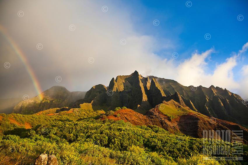 Kalalau Valley rainbow on the Na Pali Coast of Kauai