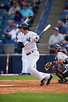 New York Yankees designated hitter Kyle Higashioka (86) at bat during a Spring Training game against the Detroit Tigers on March 2, 2016 at George M. Steinbrenner Field in Tampa, Florida.  New York defeated Detroit 10-9.  (Mike Janes/Four Seam Images)