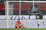 Gianluigi Buffon of Juventus reacts after conceding a goal to Ante Rebic of AC Milan during the Coppa Italia match at Giuseppe Meazza, Milan. Picture date: 13th February 2020. Picture credit should read: Jonathan Moscrop/Sportimage