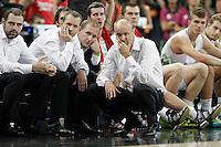 Slovenia's coach Zdovc Jure during 2014 FIBA Basketball World Cup Quarter-Finals match.September 9,2014.(ALTERPHOTOS/Acero)