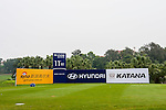 Branding at the Golf Course during the Hyundai China Ladies Open 2014 on December 11 2014, in Shenzhen, China. Photo by Xaume Olleros / Power Sport Images